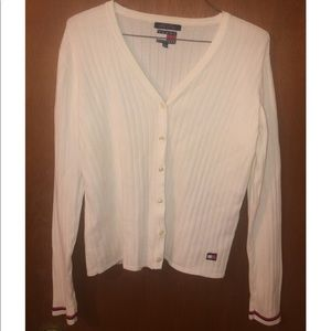 Tommy Hilfiger Womens White Cardigan